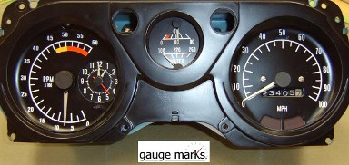 1970 - 1981 Trans Am Gauge Face Inlays 100 MPH 6 K