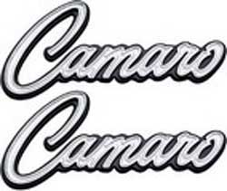 1968-69 Camaro Deluxe Inner Door Panel Emblems