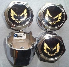 1977 - 1992 Trans Am GOLD Bird Center Caps