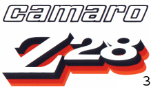 1978 Camaro Z28 Decal Kit