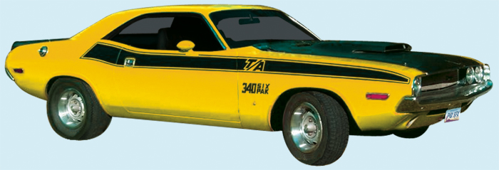 1970 Dodge Challenger T/A Decal Kit