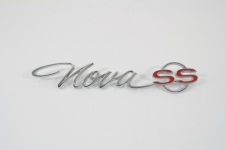 1965 CHEVY II/NOVA SS REAR QUARTER EMBLEM, NOVA SS, INCLUDES FASTENERS