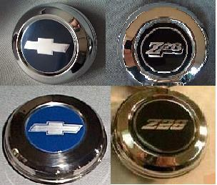 1970 - 1981 Camaro Z28 Center Caps for 5 Spoke Steel Wheels.
